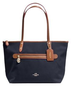 5e012ae4db79 Coach Multifunctional Leather Tote in Midnight (Navy) Navy Tote Bags, New  Handbags,. Tradesy