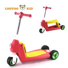 China Alibaba factory cheap price 2 in 1 multifunctional 3 wheels children kick scooter