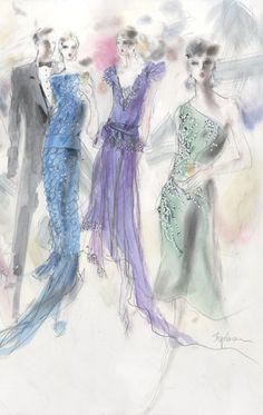 Illustration by Steven Stipelman, spring 2011, Miuccia Prada goes roaring chic for 'The Great Gatsby'.