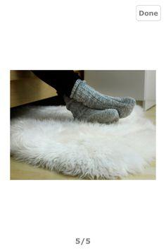 Fake sheepskin rug :)