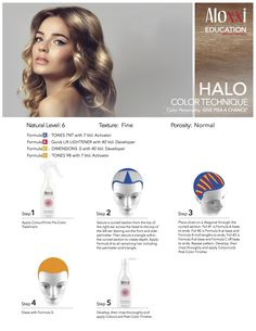Aloxxi Education: HALO Hair Color Technique  Color Personality: GIVE PISA A CHANCE(R)