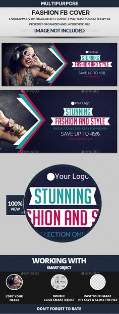 Fashion Facebook Cover Design Template - Facebook Timeline Covers Social Media Design Template PSD. Download here: https://graphicriver.net/item/fashion-facebook-cover/18937799?ref=yinkira