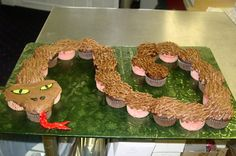 Snake - Snake made out of cupcakes