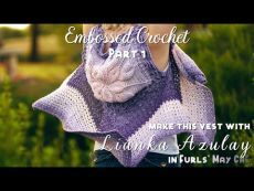 How to Crochet: Embossed Crochet [Embossed Crochet Flower Tutorial]. Watch Trisha Kahan explain an wildly trending crochet technique: Embossed Crochet. This video will teach you exactly how to crochet this stitch for Furls Embossed Boho Vest pattern from Crochet Flower Tutorial, Crochet Instructions, Crochet Flowers, Crochet Motif, Crochet Stitches, Crochet Patterns, Crochet Top, Knitting Videos, Crochet Videos