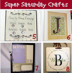 Super Saturday ~ Craft Ideas - Tip Junkie Christmas super saturday craft ideas Informations About Super Saturday ~ Craft Ideas Pin - Craft Day, Craft Night, Craft Gifts, Diy Gifts, Crafts To Make, Fun Crafts, Crafts For Kids, Craft Tutorials, Craft Projects