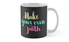 Make your own path. Colorful text on dark background. by kakapostudio