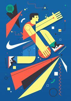 Nike Wall Mural by Neil Stevens – Fubiz Media