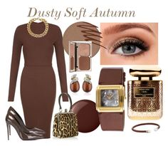 Dusty Soft Autumn by prettyyourworld on Polyvore featuring AX Paris, Dolce&Gabbana, Michael Kors, Belk & Co., Majorica, Activa, Kjaer Weis, Smashbox, Terry de Gunzburg and Charlotte Tilbury