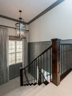Colored wainscoting for hallway that's not white!
