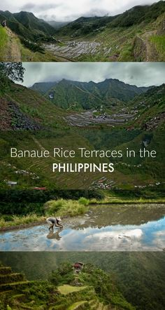 Photos of the Banaue Rice Terraces, a UNESCO World Heritage site on the Island of Luzon, Philippines. It is said that if all the terraces were laid end-to-end they'd stretch halfway around the world!