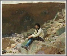 Alfred James Munnings (1878-1959), Phyllis Crocker - 1913