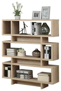 Reclaimed Look Modern Bookcase