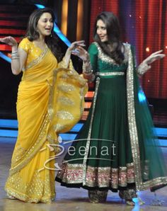 Madhuri Dixit In Saree | Madhuri Dixit in Yellow Designer Saree . Looks stunning and graceful ...