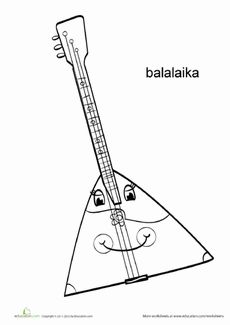 Balalaika Coloring Page Worksheet  http://www.education.com/worksheet/article/balalaika-coloring-page/