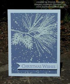Keenan Kreations: Easy Embossed Christmas Card - Ornamental Pine - Gorgeous Grunge