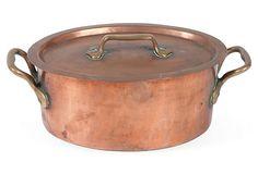 Antique Copper Pot w/ Lid on OneKingsLane.com--for my new kitchen!!