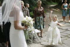 They can be adorable, but when it comes to wedding etiquette, kids don't always play by the rules. Here's how to make things easier for everyone. Wedding Etiquette, Flower Girl Dresses, Things To Come, Wedding Dresses, Weddings, How To Make, Kids, Play, Fashion