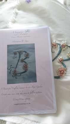 Monogram Letter 'B'. Embroidery Kit by angierichardson on Etsy