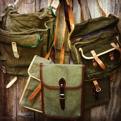 1950's and 1960's Vintage Military Officers Bags