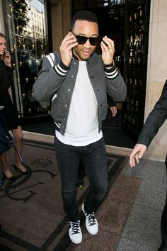 David Beckham and John Legend Are Making The Varsity Jacket Cool Again  David Beckham and John Legend show you how to wear fall's coolest piece of outerwear, the varsity jacket.   ----------------------------- #gossip #celebrity #buzzvero #entertainment #celebs #celebritypics #famous #fame #celebritystyle #jetset #celebritylist #vogue #tv #television #artist #performer #star #cinema #glamour #movies #moviestars #actor #actress #hollywood #lifestyle