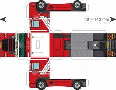 Free Download Paper Model Trucks | Trailer-Hoekstra