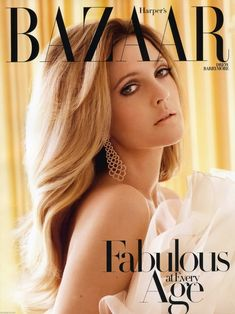 Drew Barrymore stars on Harper's Bazaar Magazine October 2010 cover