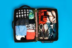 """Travel Like A Minimalist: How To Never Overpack Again #refinery29  http://www.refinery29.com/71259#slide9  And here, we've got her fully packed carry-on suitcase that actually still has room to spare.  Scary looking? Too compact to believe? Trust us — this works. """"Overpacking is like a safety blanket for me. I want to know I have everything I need in case of, well, anything. But, it's really liberating not having to check a bag and challenging myself to mix and match from my own closet. And…"""