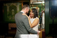 Danielle & Kenny ♢ Beautiful interracial couple at their wedding in New Orleans #love #wmbw #bwwm
