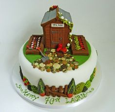 'Garden shed' cake, made to celebrate a 70th birthday.