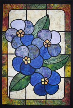 Forget-Me-Nots_stained_glass_class_sample.jpg (362×540)
