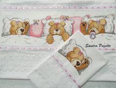 ponto cruz Cross Stitch Baby, Cross Stitch Charts, Cross Stitch Embroidery, Cross Stitch Patterns, Baby Crafts, Diy And Crafts, Cute Teddy Bears, Baby Quilts, Animals