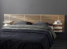 Cette tête de lit en bouleau est un accessoire déco original pour décorer la…