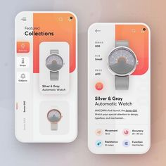 Anicorn watches redesign concept - mobile app by Dawid Tomczyk Web Design, Branding, Mobile App Design, Wireframe, Show And Tell, Product Launch, Design Inspiration, Concept, Ui Ux