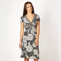 Rocha.John Rocha Black floral print jersey dress- at Debenhams.com