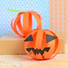 Paper Jack o' Lantern Craft