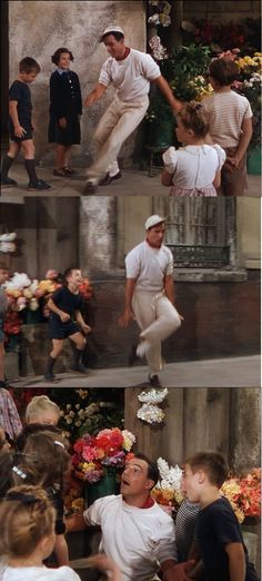 "Gene Kelly tap-dancing and singing ""I Got Rhythm!"" in An American in Paris 1951"