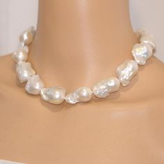 NEW 12-16MM large irregular shaped baroque pearl necklace 40inches