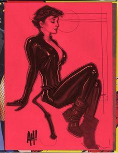 Catwoman Sketch by ~AdamHughes