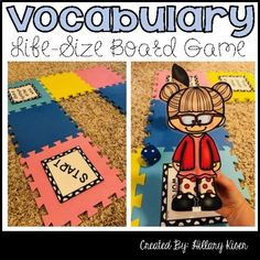 Vocabulary Life-Size Game Board Game Life Size Games, Speech Therapy, Play Therapy, Vocabulary Games, Character Trait, Text Features, Student Engagement, Teacher Newsletter, Pretty Cool