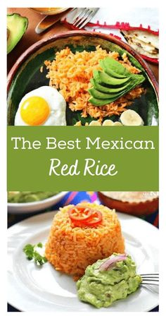 "Red Rice Recipe, this is one of the most popular side dishes in the Mexican Cuisine, either it is red rice, white, green or black (with beans). Consequently, mastering the art of cooking rice is one of those ""rites of passage"" for any Mexican girl looking to get ready for marriage. Or, at least, that's how it used to be. Easy Vegetable Soup, Easy Vegetable Recipes, Veggie Recipes Healthy, Rice Recipes, Vegan Recipes, Easy Recipes, Red Rice Recipe Mexican, Mexican Rice Dishes, Best Mexican Recipes"