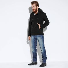 Caban en drap de laine homme CYCLONE SCHOTT - 3Suisses