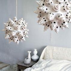 Weiße Türme ein Papier Zellstoff Lampe von ThePaperMoonFactory, €475.00