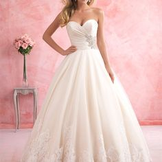 2813 - A gorgeous overlap of textures makes this taffeta, tulle and lace combination gown stand out.
