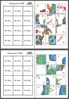 Maths Puzzles - addition and subtraction Maths Puzzles, Math Worksheets, Math Resources, Math Stations, Math Centers, Math Games, Math Activities, Math Math, Primary Maths