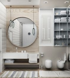 concrete bathroom. Modern interior idea for your apartment #design #bath #architecture #interior #домашнийдекор