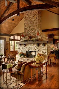 Would love to have with one exception.  I would have a tv built into the fireplace.