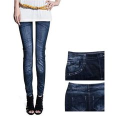 New Sexy Womens Leggings Jeggings Fashion tattoo Denim jeans Stretchy Skinny Pants free shipping