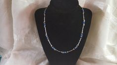 Check out this item in my Etsy shop https://www.etsy.com/listing/446522920/blue-and-hematite-bead-necklace