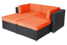 Soho 4-Piece Sofa Set,  Orange