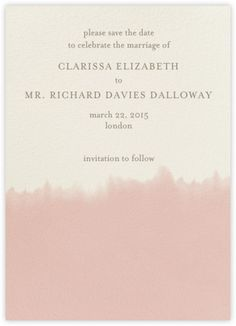 :: Dip Dye - Antique Pink - Paperless Post ::